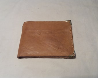 Vintage Light Brown Leather Men's Wallet - NEW