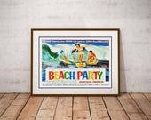 Beach Party Poster – Frankie Avalon Annette Funicello On Surfboards