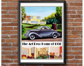 Art Deco Home of 1936 Poster