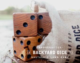 Yard Dice - Set of 6 lawn dice  lawn games outdoor yardzee
