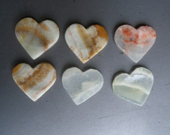 Banded Onyx Heart Worrystones