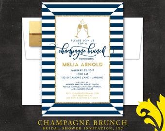 CHAMPAGNE BRUNCH . bridal invitation
