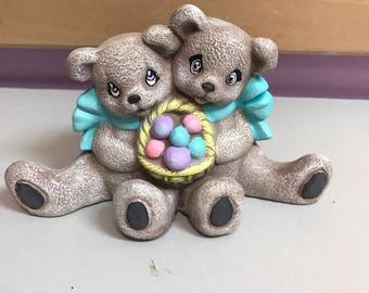 Bears with Easter Basket