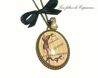 •MAISON DE COUTURE• cabochon necklace