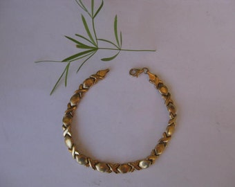 SALE 10k Yellow Gold  hearts Bracelet