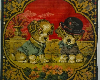 Vintage Puppy Tapestry