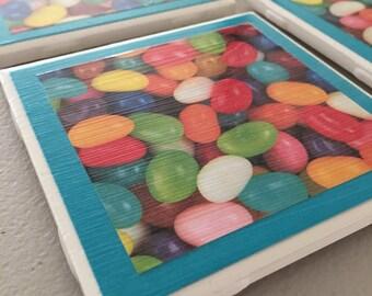 Jelly Bean Coasters