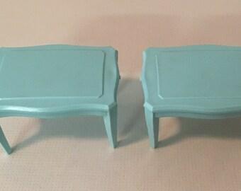 MPC End Tables vintage Dollhouse miniature Furniture 1:16