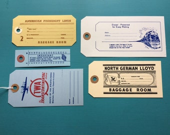 Vintage looking Travel Gift Tags