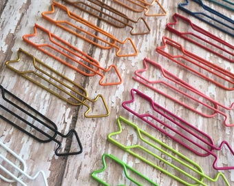 Long Arrow Paperclips , Set of Two