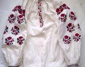 Antique Ukrainian Linen Shirt Vyshyvanka Hand Embroidered Ukrainian Embroidery Antique Ukrainian Dress