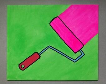 Pop Art Paint Roller Painting