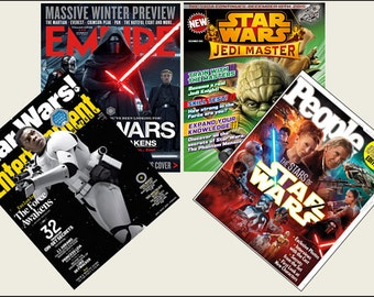 4 Miniature   'Star Wars' Themed   Magazines  -  Dollhouse 1:6th   1/12th   1/24th   1/48th   scale
