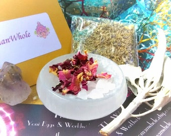 Yoni Egg Charging Kit: Energized Selenite Charging Station and Herbal Blessings!
