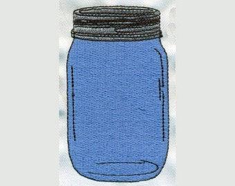 Country Mason Jar Filled Embroidery Design - Instant Digital Download