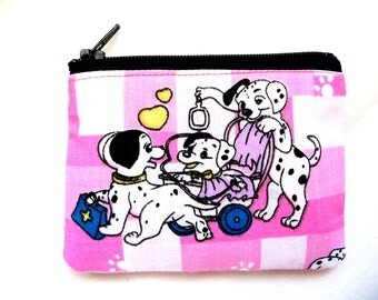 coin purse with dogs made from cartoon fabric