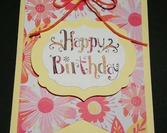 Greeting card, handmade card, Happy Birthday