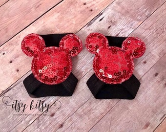 Mickey Mouse, Baby Barefoot Sandals, Damask, Mickey Ears, Mickey Mouse Birthday, Mickey Mouse Shoes,  Mickey Mouse Sandals, Baby Chanclas