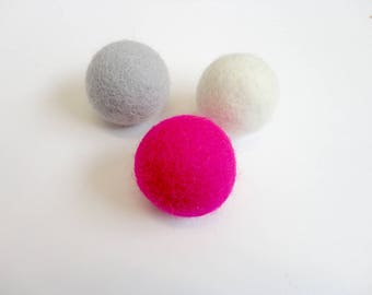 Cat Toy ball - Colorful Felt wool - Pack of 3