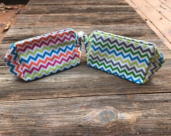 Personalized Chevron Make Up Bags, Cosmetic Bags, Polka Dot, Personalized Pencil Bag, Pencil Bag, Make Up Bag, Cosmetic, Pencil Case,
