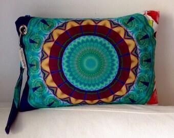 New mandala hand bag / Clutch / Pouch / OOAK / FREE SHIPPING