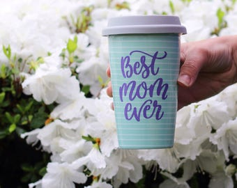 best mom ever - mothers day gift - gifts for her - vinyl decal - coffee mug decal