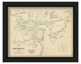 Portsmouth Harbor 1909-Eldridge Chart