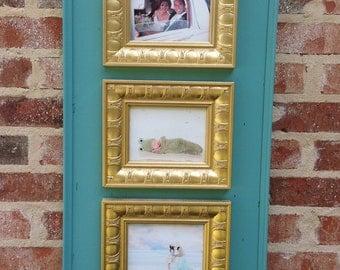 Multi photo picture frame.  Three 5x7s.