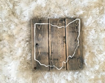 Ohio Themed Wooden Wall hanging