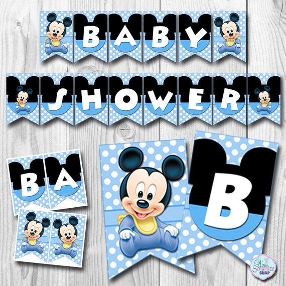 Baby MICKEY MOUSE Baby Shower Banner Baby Mickey Mouse