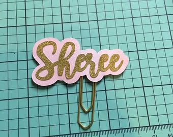 Name Paper Clip Planner, Penpal and Journalling
