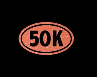 50K Glittery Vinyl Euro Decal for you or that dedicated runner in your life! Perfect accent for your car, laptop, or custom gift bag!