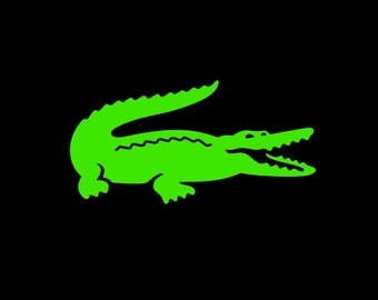 Alligator Vinyl Decal in Your Choice of Solid Colors and Sizes!  Perfect for the Preppy Lover in You!