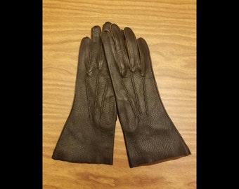 Vintage leather lady gloves