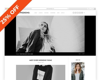 Every Weekend - Wordpress Theme - Wordpress Template - Shop template - photography template - blog template - woocommerce theme