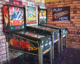 ACDC ~ Miniature Pinball Table Model 1/12 Scale