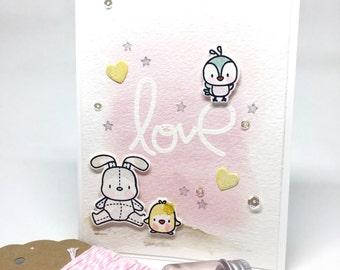 Handmade Card - Valentine's Card - Love