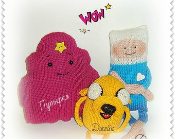 Adventure time toy.Finn,Adventure Time,Knitted toys,Finn,Princess,Jake,Lumpy Space Princess,Gift for children,soft toy,Gift for the holiday