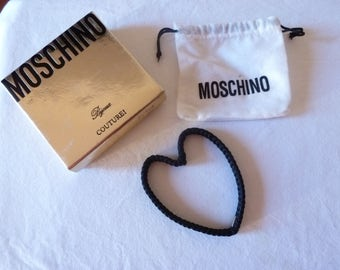 Moschino vintage - heart shaped bangle with original pouch & box