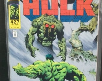 1994 The Incredible Hulk #427   Hulk Meets The Man Thing Pt 1 VF-MN Vintage Marvel Comic Book