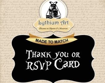 Thank You or RSVP Card Design - Add Matching Thank You or RSVP Card