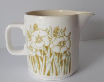 "Vintage 1970s Hornsea ""Fleur"" cream jug. Retro Milk jug. Retro Hornsea. Hornsea milk jug. Hornsea pottery."