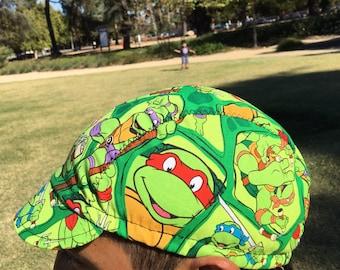 Cycling  cap turtle ninjas 100% cotton  print