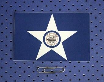 City of Houston Flag Sticker