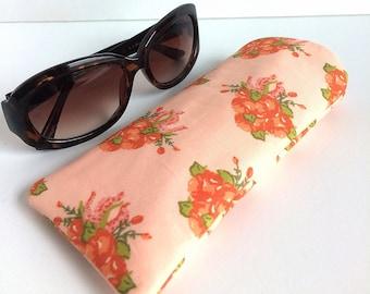 Padded Sunglass Case - Floral Sunglass Pouch - Eyeglass Pouch - Sunglass Holder