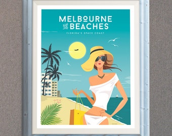 Relax in Melbourne Beach - Fine Art Print Glicee Poster - LIMITED EDITION
