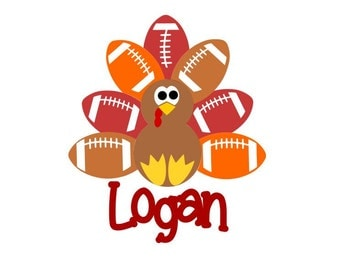 Adorable Football Turkey; SVG, DXF, AI, Ps and Pdf Cutting Files for Electronic Cutting Machines