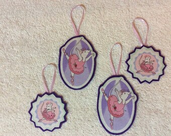 Angelina Ballerina-Set of Four Ornaments