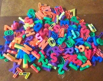 Vintage Fisher Price Alphabet Letters Random Lot 30 Magnetic Alphabet Letters and Numbers #923 Fisher Price Little People School #176 Desk