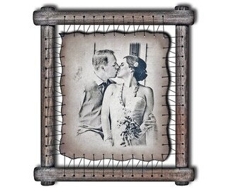Anniversary 3rd Gift 3rd Anniversary Leather Photograph Engraved in Real Leather Wedding Third Anniversary Engraved Leather Gift For Her